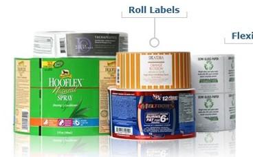 Custom Printed Flexo Roll Labels
